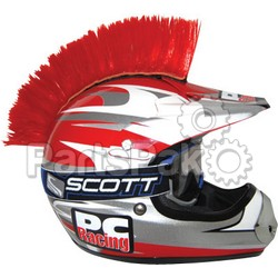 PC Racing PCHMRED; Helmet Mohawk (Red)