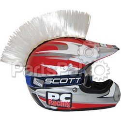 PC Racing PCHMWHITE; Helmet Mohawk (White)