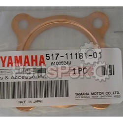 Yamaha 107-11181-01-00 Gasket, Cylinder Head; New # 517-11181-01-00