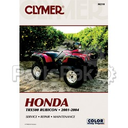 Clymer Manuals M210; Honda TRX500Fw Rubicon 2001-2004 Clymer Repair Manual