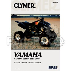 Clymer Manuals M280-2; M280 Yamaha YFM660R Raptor 2001-2005 Clymer Repair Manual