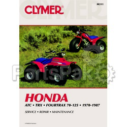 Clymer Manuals M311; Atc,Honda TRX 70-125, 1970-1987 Clymer Repair Man.