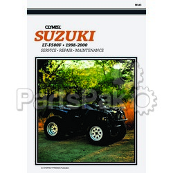 Clymer Manuals M343; Suzuki LTF500 Quadrunner 98-00 Repair Manual