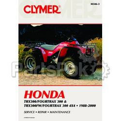 Clymer Manuals M346-3; M346 Honda TRX300 2 and 4Wd 88-00 Clymer Repair Manual