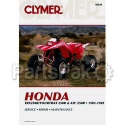 Clymer Manuals M348; Atc250R/Honda TRX250R 1985-89 Clymer Repair Manual