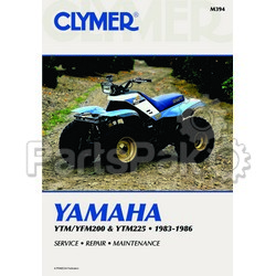 Clymer Manuals M394; Yamaha YTM/Yamaha YFM 200 and 225 83-86 Clymer Repair Manual