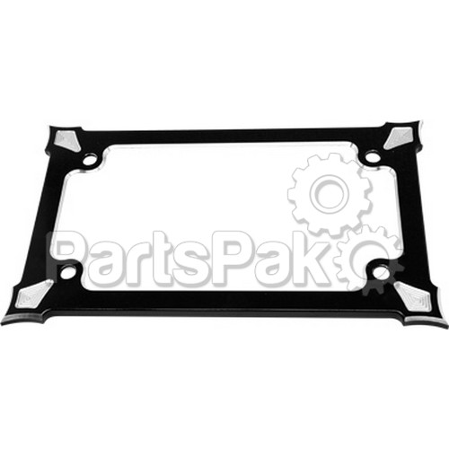 Precision Billet HD-DS-LPLATE-B; License Plate Holder Darkside (Black)