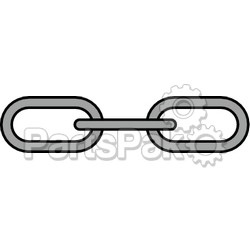 Greenfield 2115GRY; 1/4 X 4 Anchor Lead Chain Grey