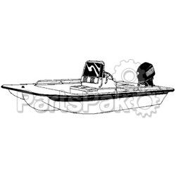 Carver Covers 71020P; Ccb-20 Poly-Guard Boat Cover