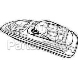 Carver Covers 95123P; Boat Cover 23 Deck Boat Poly; LNS-500-95123P