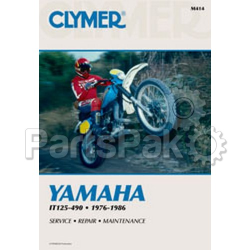 Clymer Manuals M414; Yamaha It 125-490 Motorcycle Repair Service Manual