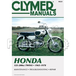 Clymer Manuals M321; Honda 125-200Cc Twin Motorcycle Repair Service Manual; 2-WPS-27-M321