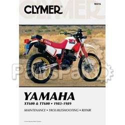 Clymer Manuals M416; Yamaha Xt Tt600 Motorcycle Repair Service Manual; 2-WPS-27-M416