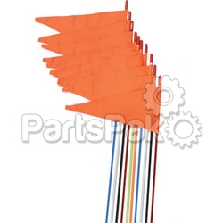 Firestik SR7-ST-W; Safety Flags Stud Mount White 7' 10-Pack