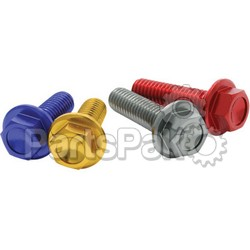 DRC D58-51-216; Aluminum Flange Bolts Red M6X16-mm 4-Pack; 2-WPS-634-8316R