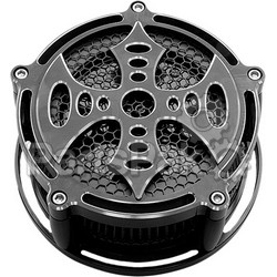 Precision Billet BAX-210-BG2-BLK; Billet Air Cleaner Bad Axe (Black)