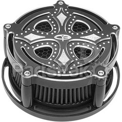 Precision Billet DRK-210-4H-BLK; Billet Air Cleaner Dark Side (Black)
