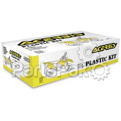 Acerbis 2040980001; Plastic Kit (Black)