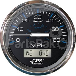 Faria 33730; Gps Speedometer 80Mph Chesapeake Stainless Steel Black