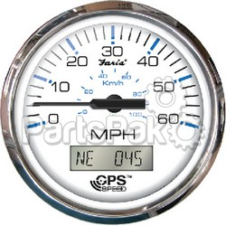 Faria 33829; Gps Speedometer 80Mph Chesapeake Stainless Steel White