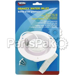 Valterra A012003VP; Water Inlet Gravity White Card