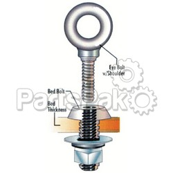 ProGrip 822820; 1/2 Inch Bed Bolts Pair