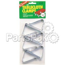 Coghlans 527; Stl Table Cloth Clamps Pkg/6