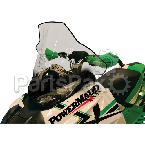 PowerMadd 14540; Cobra Windshield Arctic Cat Yamaha Tall Clr / Grpc 19 Inch Clear / Black Fade