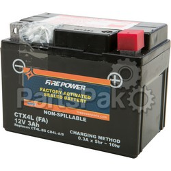 Yuasa CTX4L FA; Sealed Factory Activated Battery Ctx4L / Ct4L; 2-WPS-49-2243