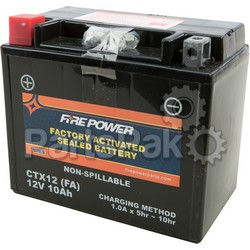 Yuasa CTX12 FA; Sealed Factory Activated Battery Ctx12; 2-WPS-49-2247
