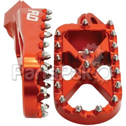 Flo Motorsports SPEG-795ORG; Adventure / Snow Footpeg Orange