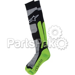 Alpinestars 4702114-916-L/2X; Tech Coolmax Socks Green Lg-2X