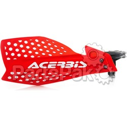 Acerbis 2645481005; Ultimate X Handguard Red / White