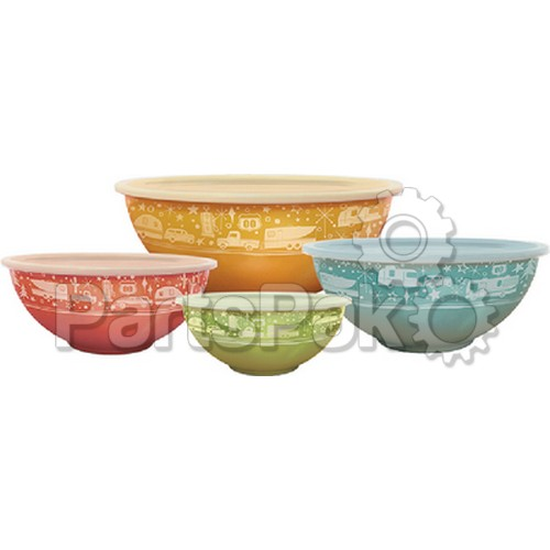 Camp Casual CC006; Nesting Bowls With Lids 4 Sets