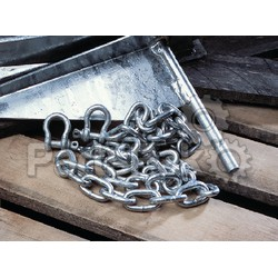 Tie Down Engineering 95130; 1/4X6-Foot Galvanized Chain With 1/4 Shack; LNS-241-95130