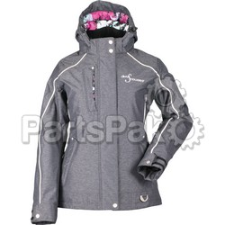 Divas 35259; Lily Collection Jacket Black Heather 5X