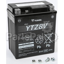 Yuasa YUAM728ZV; Sealed Factory Activated Battery Ytz8V; 2-WPS-49-1992