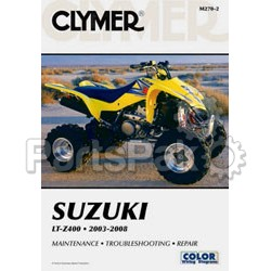 Clymer Manuals M270-2; M270 Lt-Z400 Suzuki Clymer Repair Manual