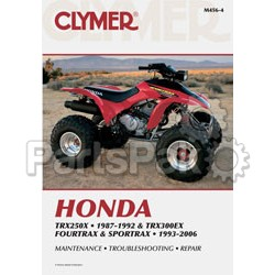 Clymer Manuals M456-4; M456 Honda TRX250X/300Ex Clymer Repair Manual