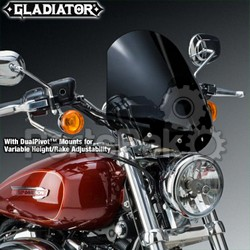 National Cycle N2709; GLADIATOR, Top Tree Mount, Chrome, Dark Tint for Sportster Custom