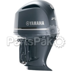 Yamaha F250NCA 250 hp Offshore 4.2L V6 4-Stroke Outboard Motor Upper Gray (Lower Unit Sold Separately)